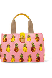 Dolce & Gabbana Leather-trimmed printed canvas tote