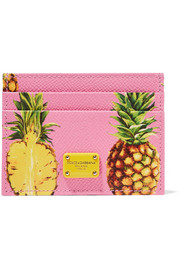Dolce & Gabbana Printed textured-leather cardholder