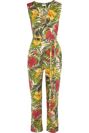 Alexa printed cotton-voile jumpsuit