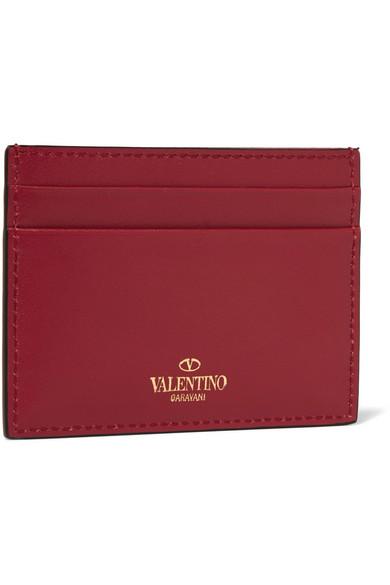 Valentino Rockstud Kartenetui aus Leder Auslass Wiki qG74ej