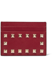 Valentino The Rockstud leather cardholder