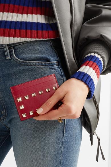 Valentino Rockstud Kartenetui aus Leder Steckdose Online Freies Verschiffen Online-Shopping Neue Stile Auslass Wiki Rabatt Billig JjvHQ