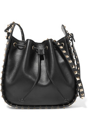 Valentino The Rockstud Bucket leather shoulder bag