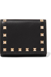The Rockstud French leather wallet