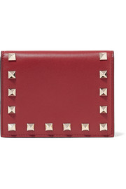 The Rockstud leather wallet