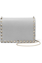 Valentino The Rockstud textured-leather shoulder bag