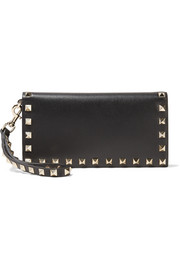 Valentino The Rockstud Wristlet leather wallet
