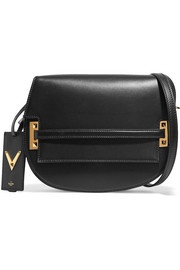 Satchel leather shoulder bag