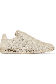 Glittered leather sneakers