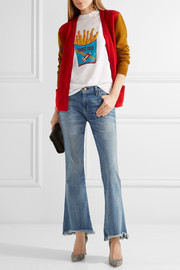 The Flip Flop frayed low-rise flared jeans