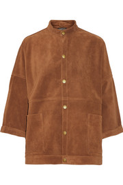 Current/Elliott The Tassled Oversized Chore suede jacket