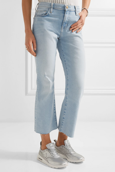 Femme Actuelle / Elliott Recadrée Hauteur Moyenne Des Jeans Évasé Taille Mi Denim 30 Current Elliott TduMha