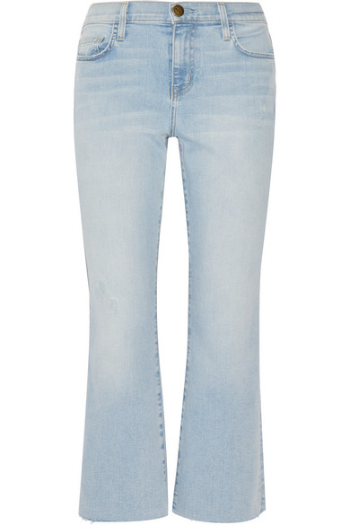 Free Shipping Deals Discount Low Price Fee Shipping Current/elliott Woman Distressed Mid-rise Flared Jeans Mid Denim Size 30 Current Elliott Hot Sale Online Cheap 0pVogl