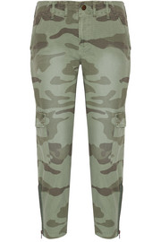 Current/Elliott The Utilitarian camouflage-print cotton-canvas tapered pants