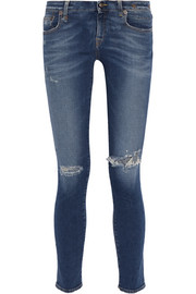 R13 Kate distressed low-rise skinny jeans