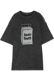 R13 Sonic Youth oversized cotton-blend T-shirt
