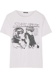 R13 Sonic Youth printed cotton and cashmere-blend jersey T-shirt