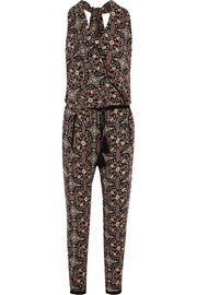 Raj printed silk-georgette jumpsuit