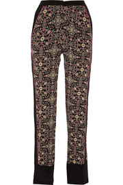 Raj printed silk straight-leg pants