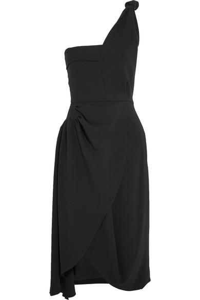 J.W.Anderson - One-shoulder Draped Crepe Dress - Black