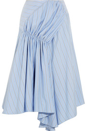 J.W.Anderson Asymmetric striped silk crepe de chine skirt