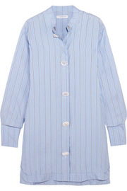 J.W.Anderson Oversized pinstriped silk-twill dress