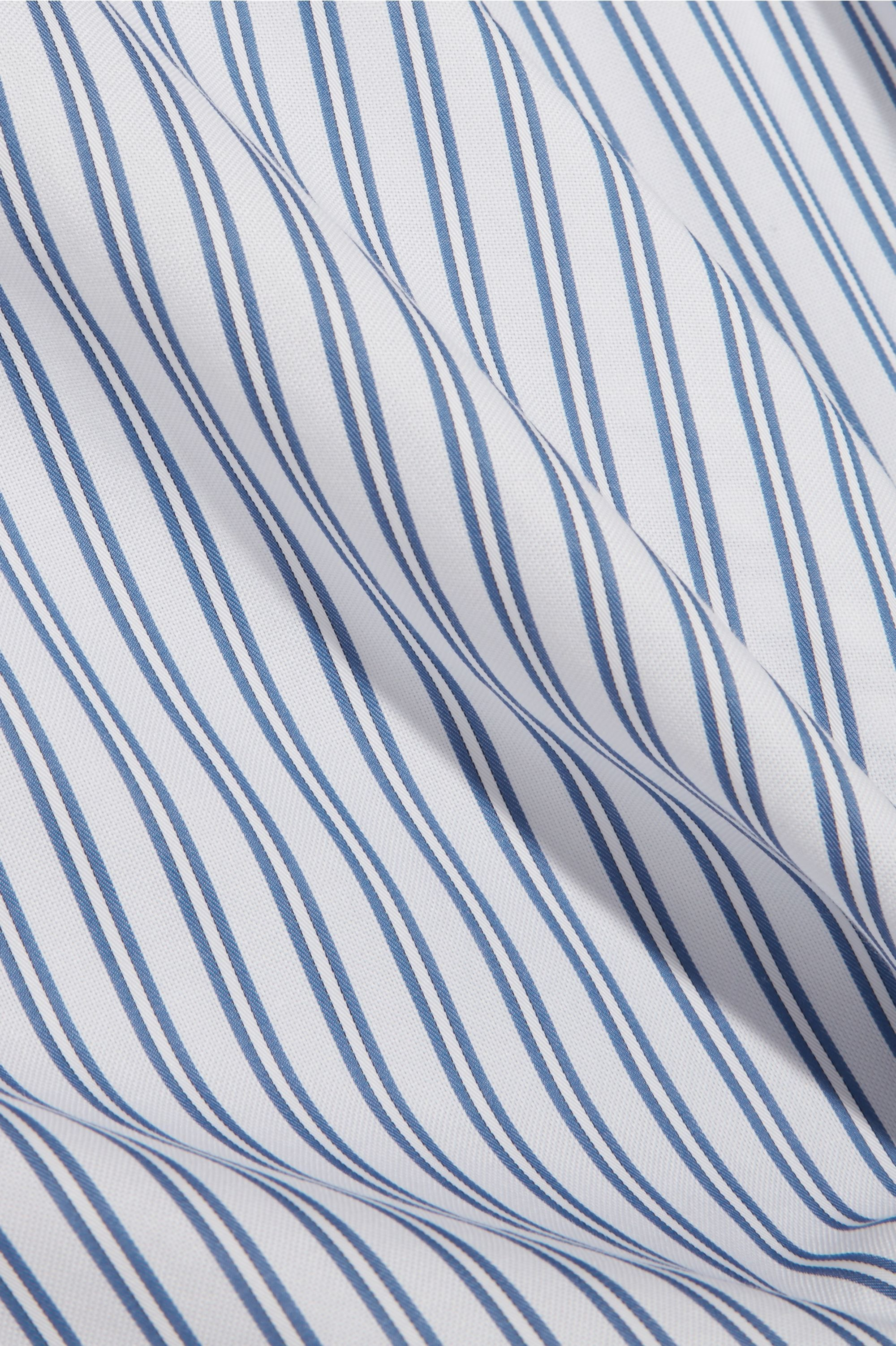 JW Anderson Knotted striped cotton shirt dress