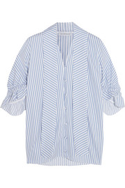 J.W.Anderson Ruffled striped cotton shirt
