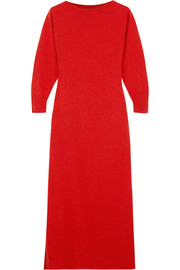 Isabel Marant Cara wool, yak and cotton-blend midi dress