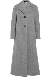 Duard alpaca and wool-blend coat