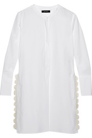 Isabel Marant Minea crochet-trimmed cotton-poplin tunic