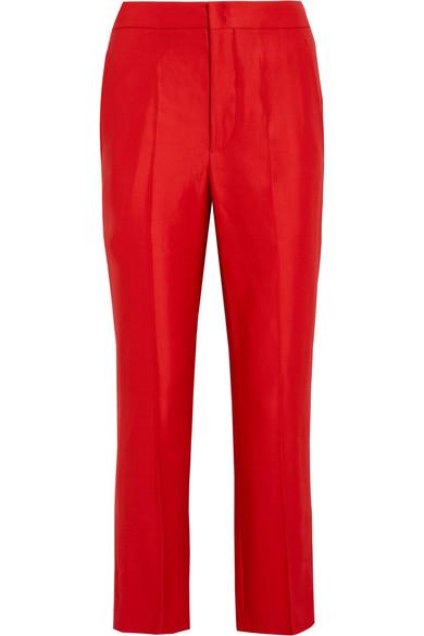 Isabel Marant - Roan Matte-satin Pants - Red