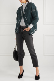 Gent oversized wool-blend cardigan