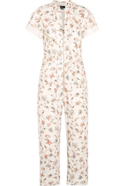 Talma floral-print cotton jumpsuit