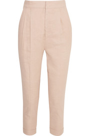 Neyo linen-blend tapered pants