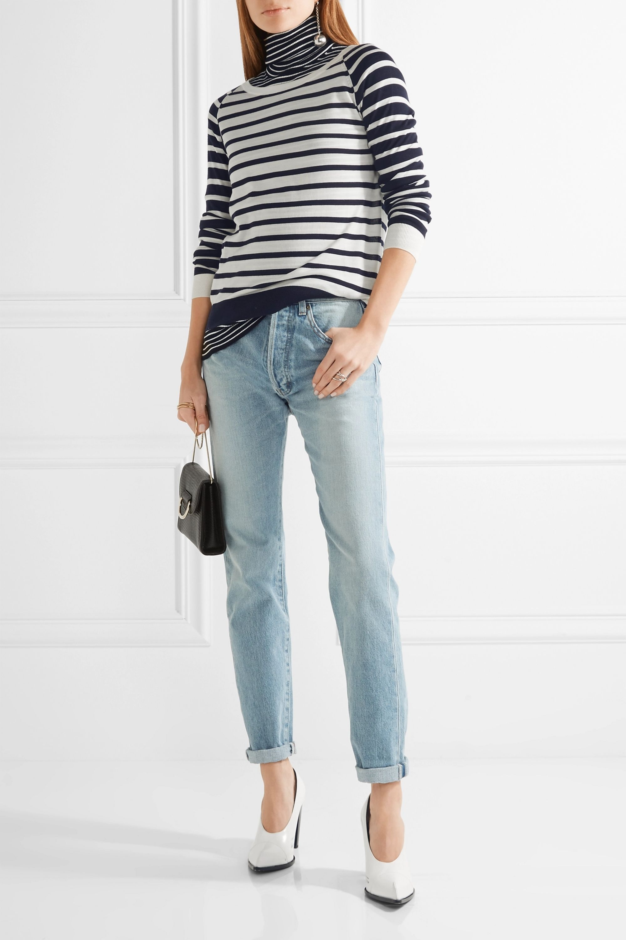 Allude Striped wool sweater