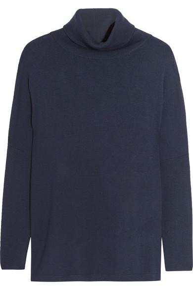Allude - Wool Turtleneck Sweater - Midnight blue