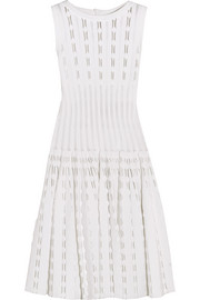 Laser-cut knitted dress