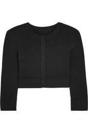 Alaïa Cropped stretch-knit cardigan