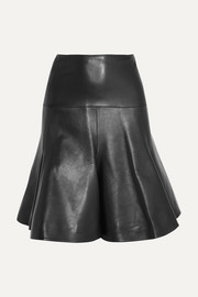 Alaïa Fluted leather mini skirt