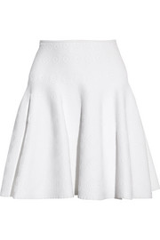 Alaïa Stretch jacquard-knit mini skirt