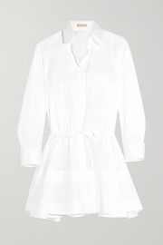 Alaïa Tiered cotton-poplin shirt