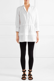 Tiered cotton-poplin shirt