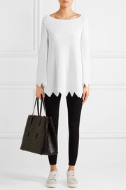 Zigzag knitted tunic