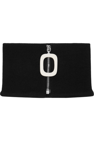 J.W.Anderson - Merino Wool Collar - Black