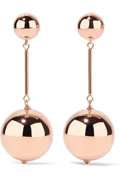 J.W.Anderson - Rose Gold-tone Earrings - one size