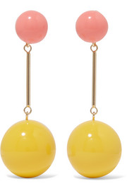 J.W.Anderson Gold-tone resin earrings