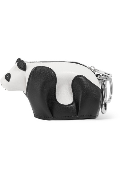 Panda leather bag charm