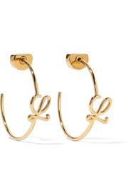 Loewe Gold-plated hoop earrings