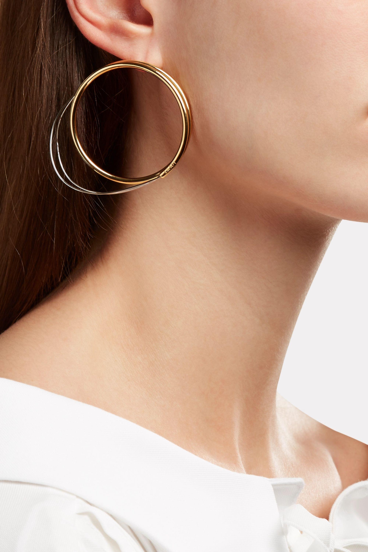 Loewe Gold and silver-tone hoop earrings